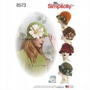 8573 Simplicity Pattern: Misses' Hats in 3 Sizes